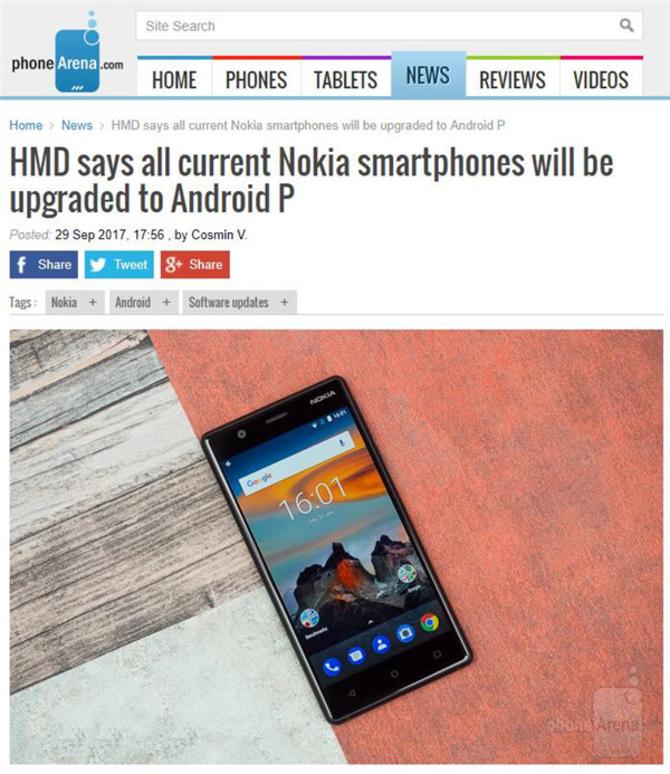 良心 诺基亚安卓机全线可升级Android 9