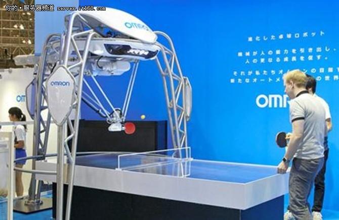 日本乒乓球机器人亮相 精准度达0.1毫米