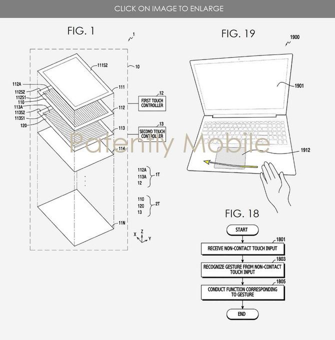 三星笔记本新专利:将支持悬空手势控制