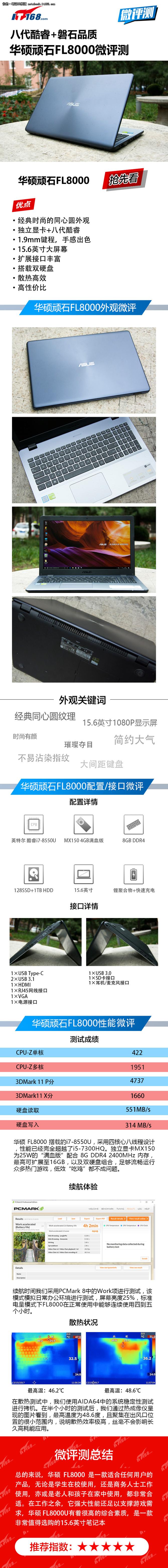 八代酷睿+磐石品质 微评华硕顽石FL8000