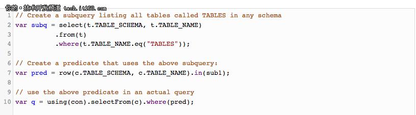 如何使用JDK 10的局部变量类型来推断jOOQ