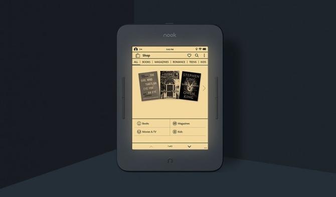 己触动调理色温的阅读器 NOOK GlowLight3颁布匹