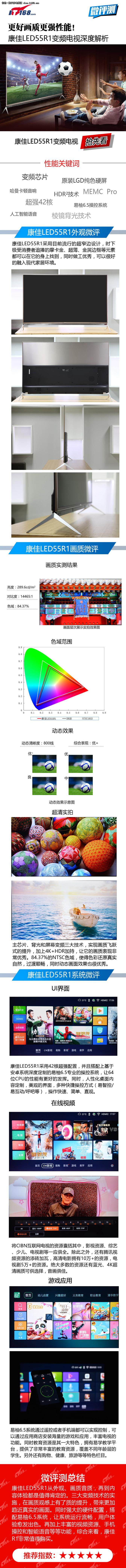 更好画质 康佳LED55R1变频电视微评测