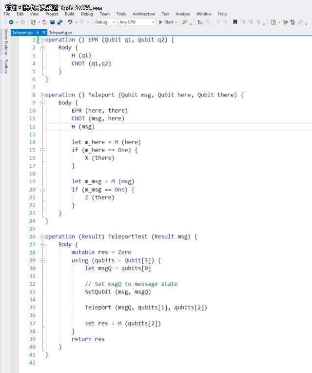 """定了,微软新推的量子计算编程语言叫""""Q#"""""""