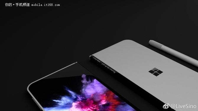 造型酷炫 Surface phone折叠手机渲染图