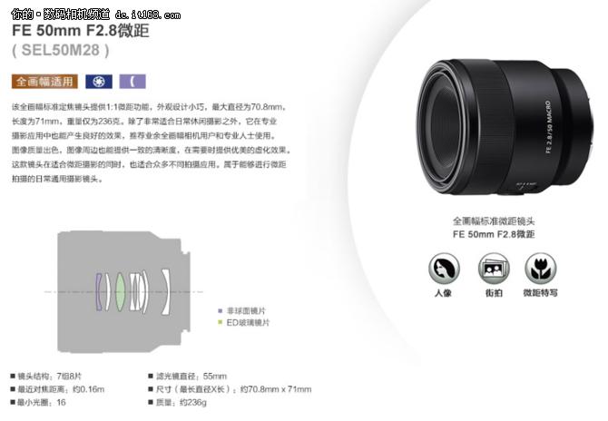 直邮不到3k元 索尼50F2.8微距镜头特价