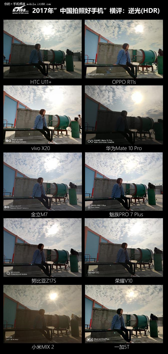 2017年中国拍照好手机横评:逆光(HDR)篇