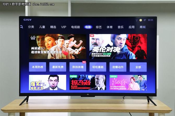 五款55英寸4K电视年终横评:产品介绍