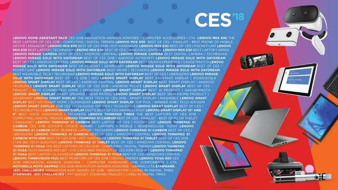 联想获78项CES大奖 智能生态产品占7成
