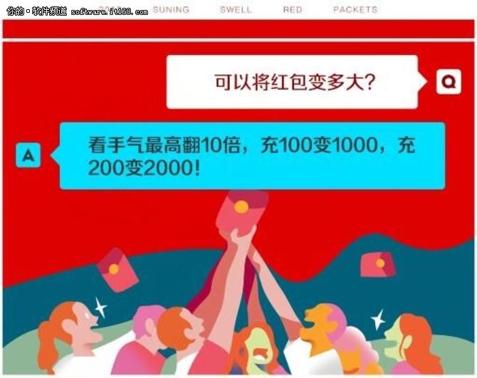 """苏宁5亿""""膨胀红包""""新玩法,胀爆你的包"""