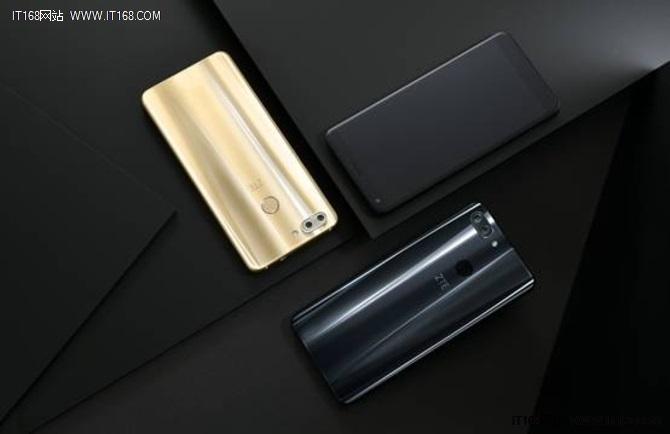 中兴新发布暗光双摄手机全面屏Blade V9