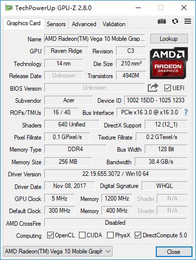Acer Swift 3评测 锐龙7 2700U有多强?