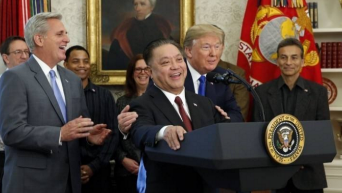 特朗普阻止博通收购高通,称为国家安全考虑