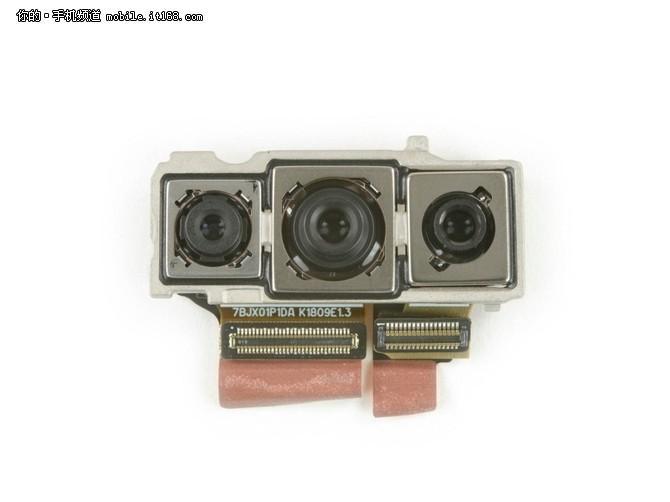 华为P20 Pro拆解 三枚镜头均配备光学防抖