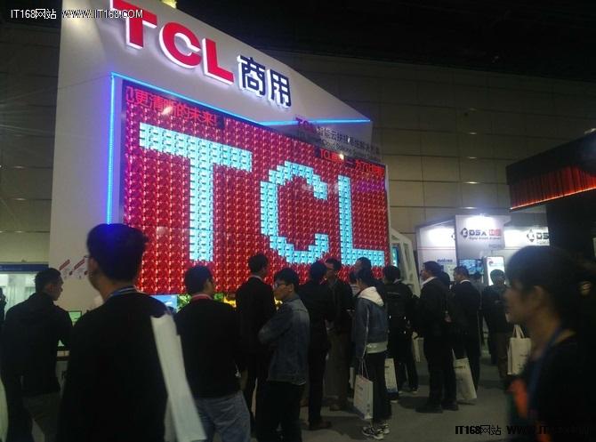 TCL携巨幕商用显示器亮相InfoCommChina