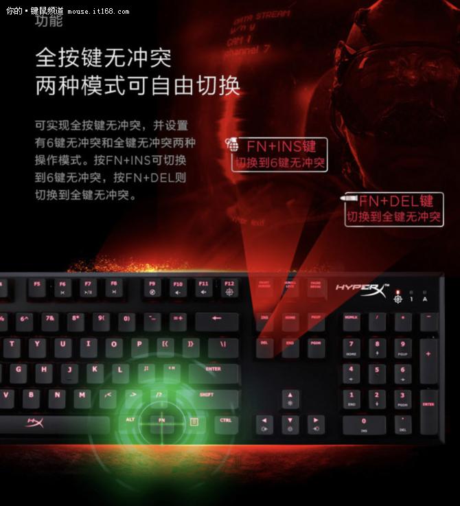 畅玩绝地求生吃鸡HyperX阿洛伊键盘促销