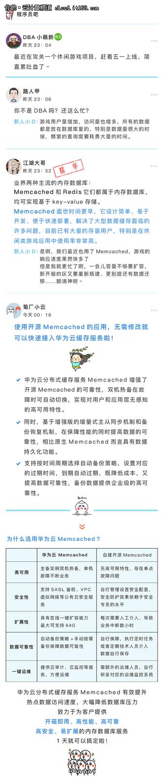 【解救程序员系列】Memcached老司机带你飞上华为云