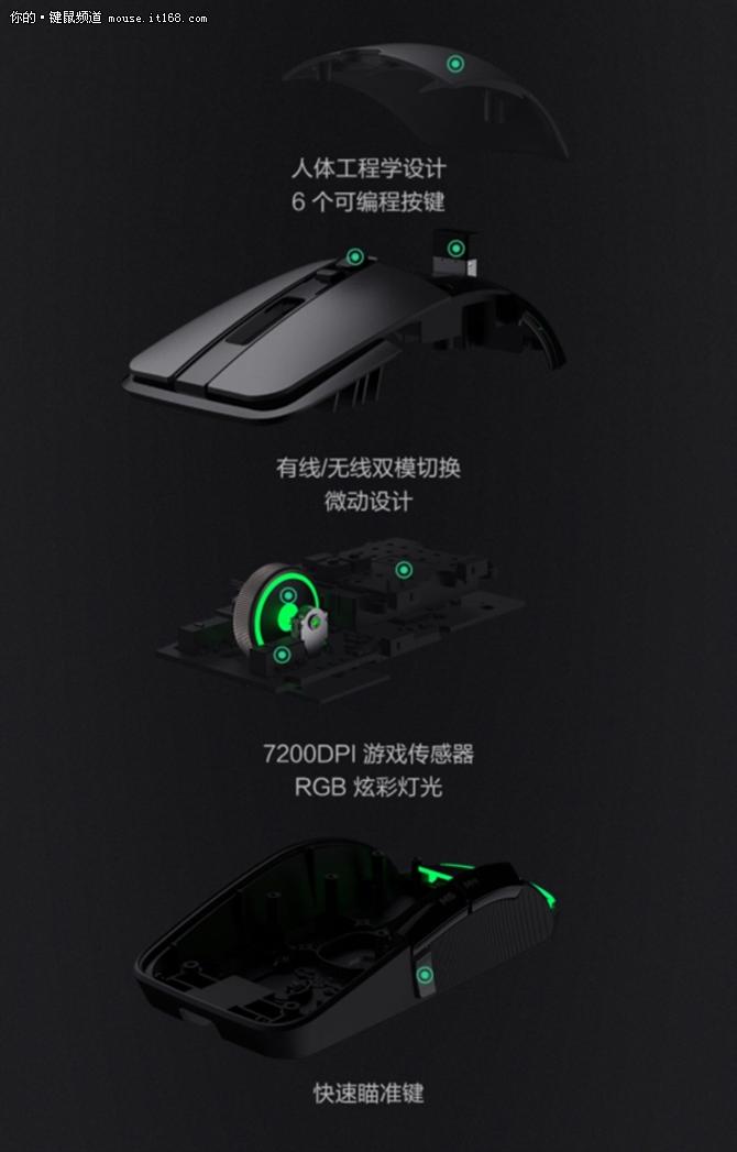 249元!小米游戏鼠标发布:有线无线双模