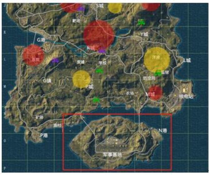 在《绝地求生》的海岛这个地图中,最南边的军事基地是一个物资非常