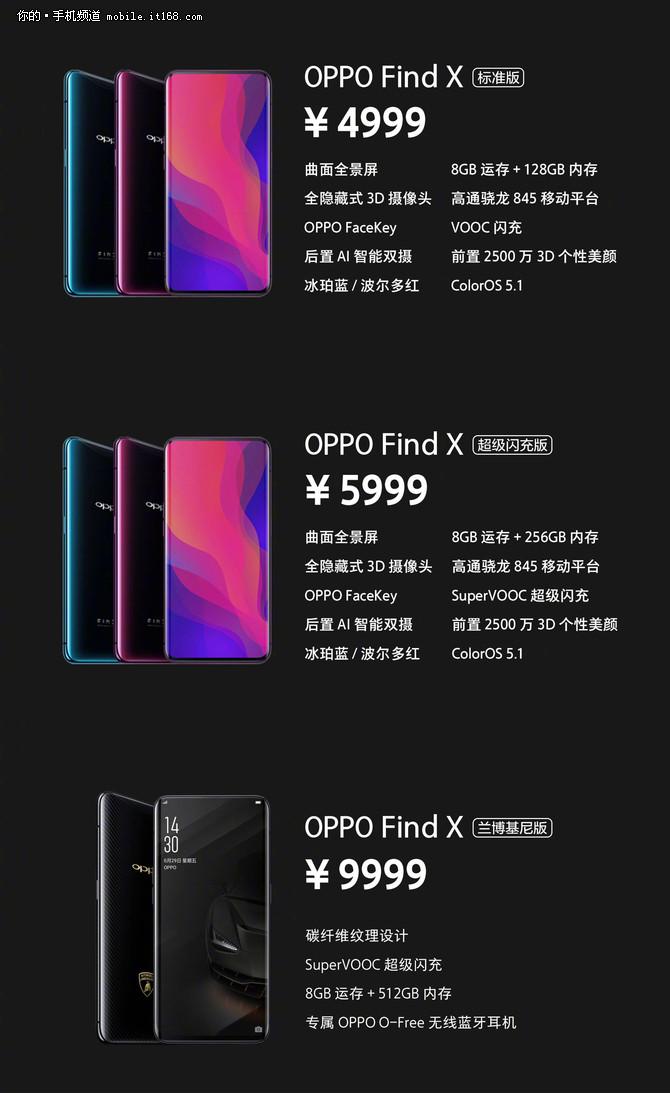 7月13日正式开卖 OPPO Find X国行4999元起