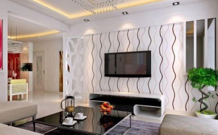 现代简约风格 42款电视背景墙效果图赏