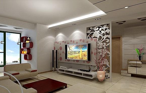 46款客廳電視機背景墻圖賞