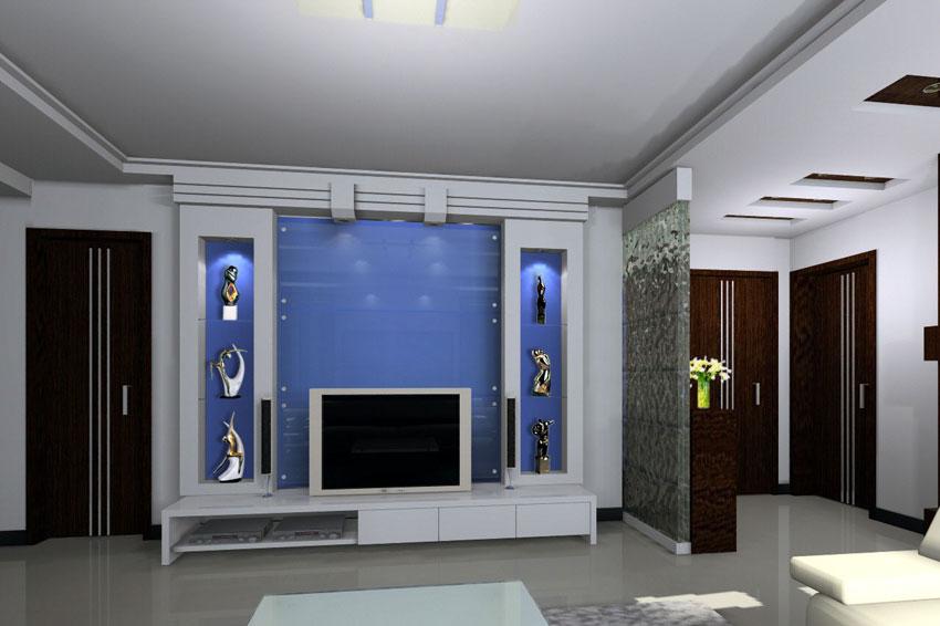 客厅电视背景墙装修效果图大全2012图片