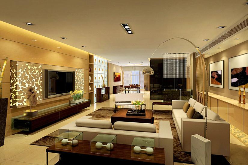 客廳裝修參考 20款電視背景墻效果圖賞