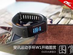 OLED大屏显示 斐讯运动手环W1开箱图赏