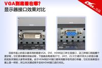 VGA到底差在哪 显示器接口效果实测对比
