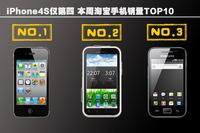 iPhone4S仅第四 本周淘宝手机销量TOP10