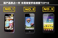 国产品牌占一半 本周淘宝手机销量TOP10