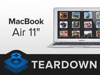 维修难易评分4 新11寸Macbook Air拆解