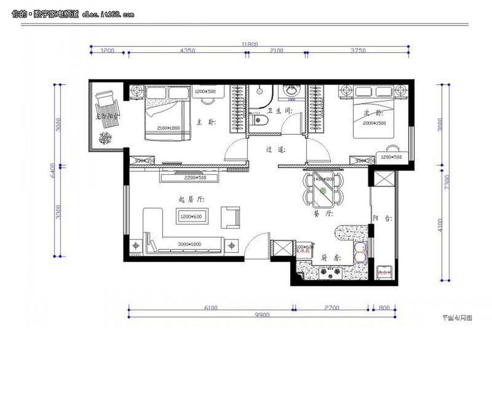 浪漫二人世界 80平米2居室装修设计图赏