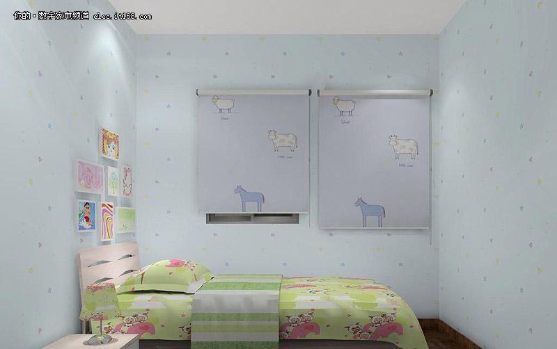 儿童房是孩子的卧室、起居室和游戏空间,应增添有利于孩子观察、思考、游戏的成分。在孩子居室装饰品方面,要注意选择一些富有创意和教育意义的多功能产品。科学合理地装潢儿童居室,对培养儿童健康成长,养成独立生活能力,启迪他们的智慧具有十分重要的意义。在儿童房的设计与色调上要特别注意安全性与搭配原理。