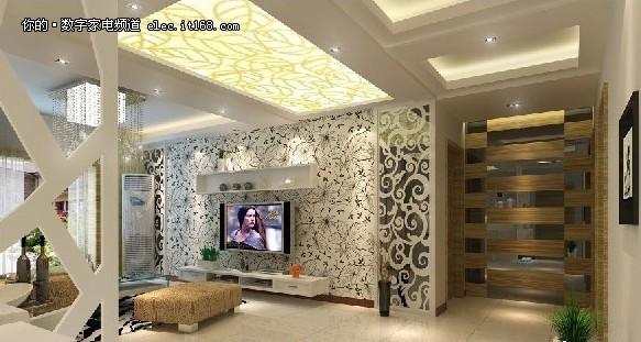 46款客厅电视机背景墙图赏