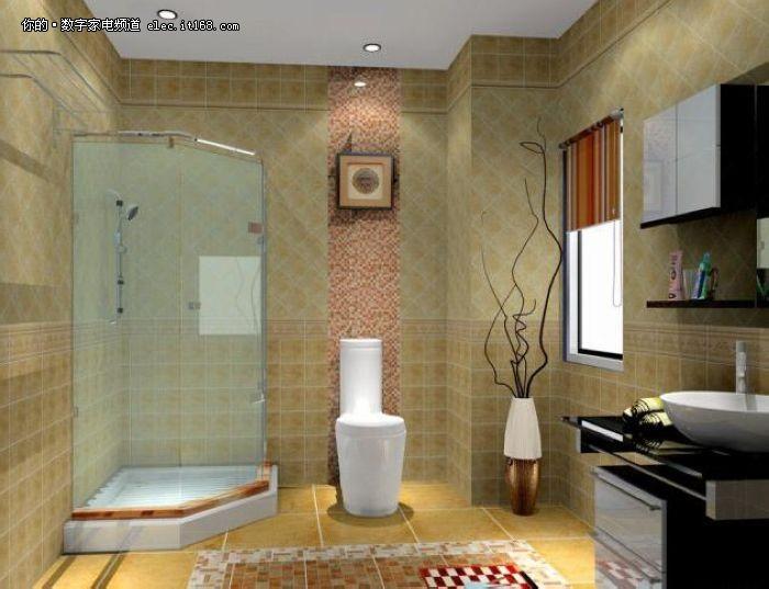 家装洗手间手绘效果图