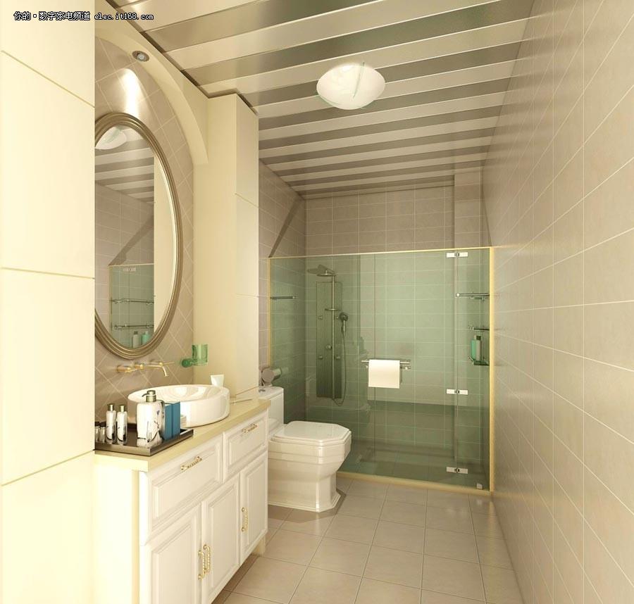 客厅卧室洗手间一体装修效果图