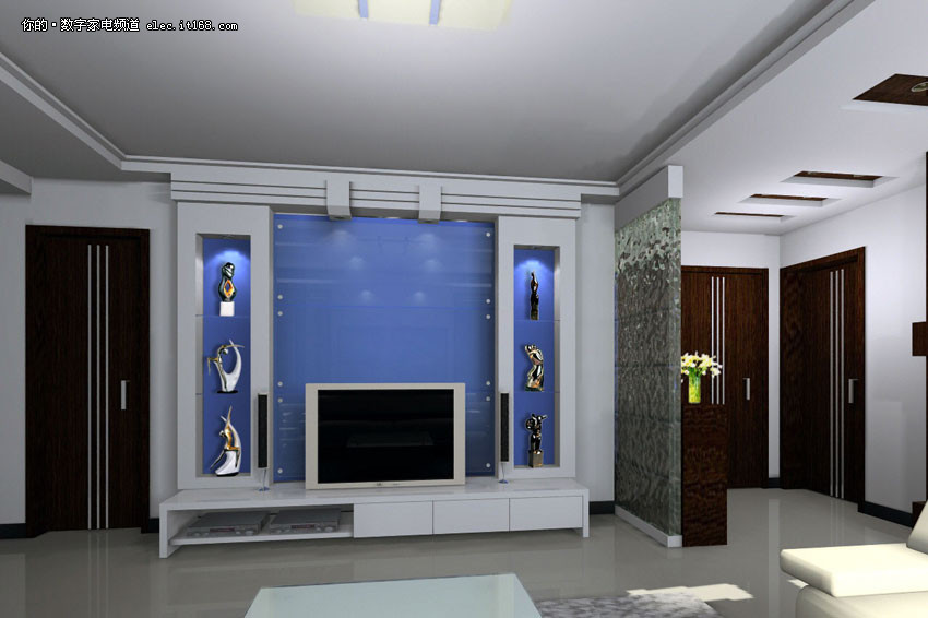 客廳電視背景墻裝修效果圖大全2012圖片
