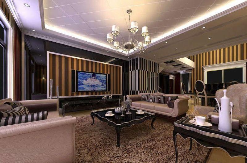 时尚+大气 最新客厅电视背景墙效果图赏