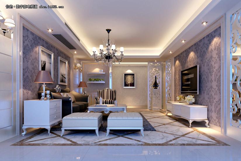 客厅装修效果图(高清30p)