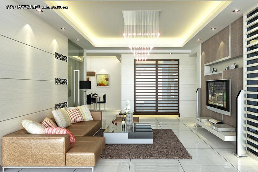 电视如何摆 客厅装修效果图(高清30p)