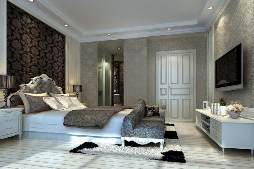 电视摆放参考 卧室装修效果图大全2012