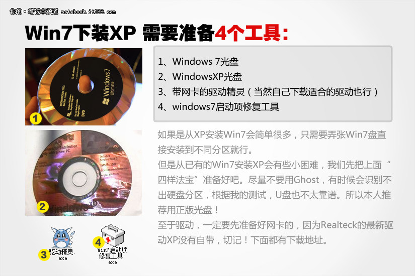 win7 xp双系统 需要的4个工具