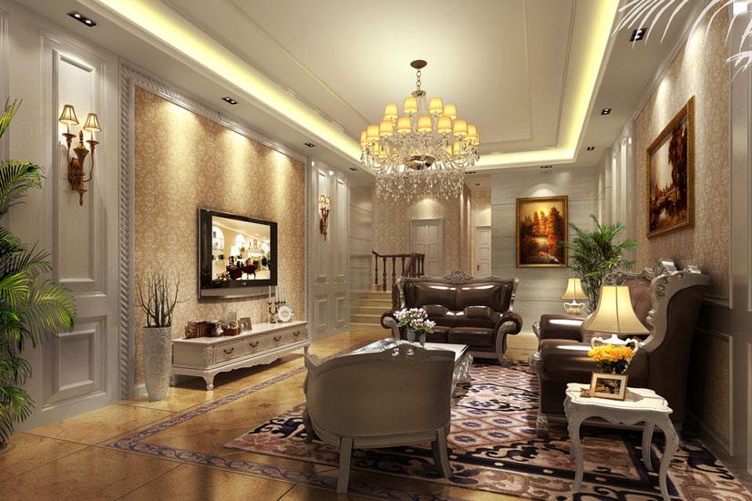 客厅装修参考 20款电视背景墙效果图赏