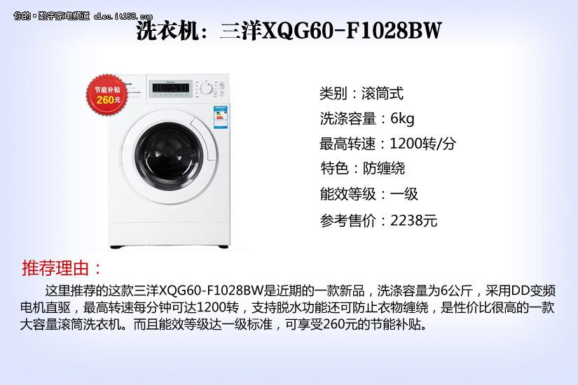 洗衣机:三洋xqg60-f1028bw