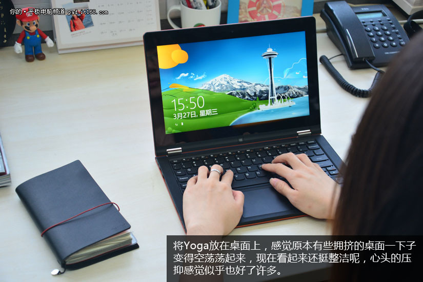 联想Yoga,不但超薄便携而且续航出色,更可以摆出如360度翻转等各种身姿,方便在不同环境及不同的使用方式下使用。Yoga11不仅外观超薄,而且细节设计出色,它既是平板也是一台笔记本电脑,是一款用途广泛使用方便的随身电脑产品。请看笔者的亲身使用体会。