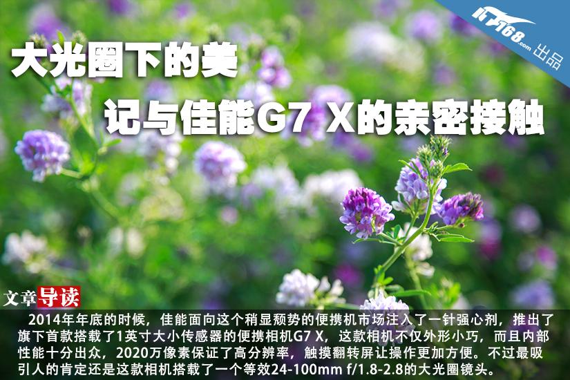 大光圈下的美 记与佳能G7 X的亲密接触