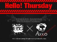 Akko EDG推Hello!Thursday周四新品计划