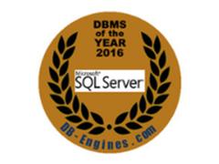 SQL Server成为DB-Engines2016年度DBMS